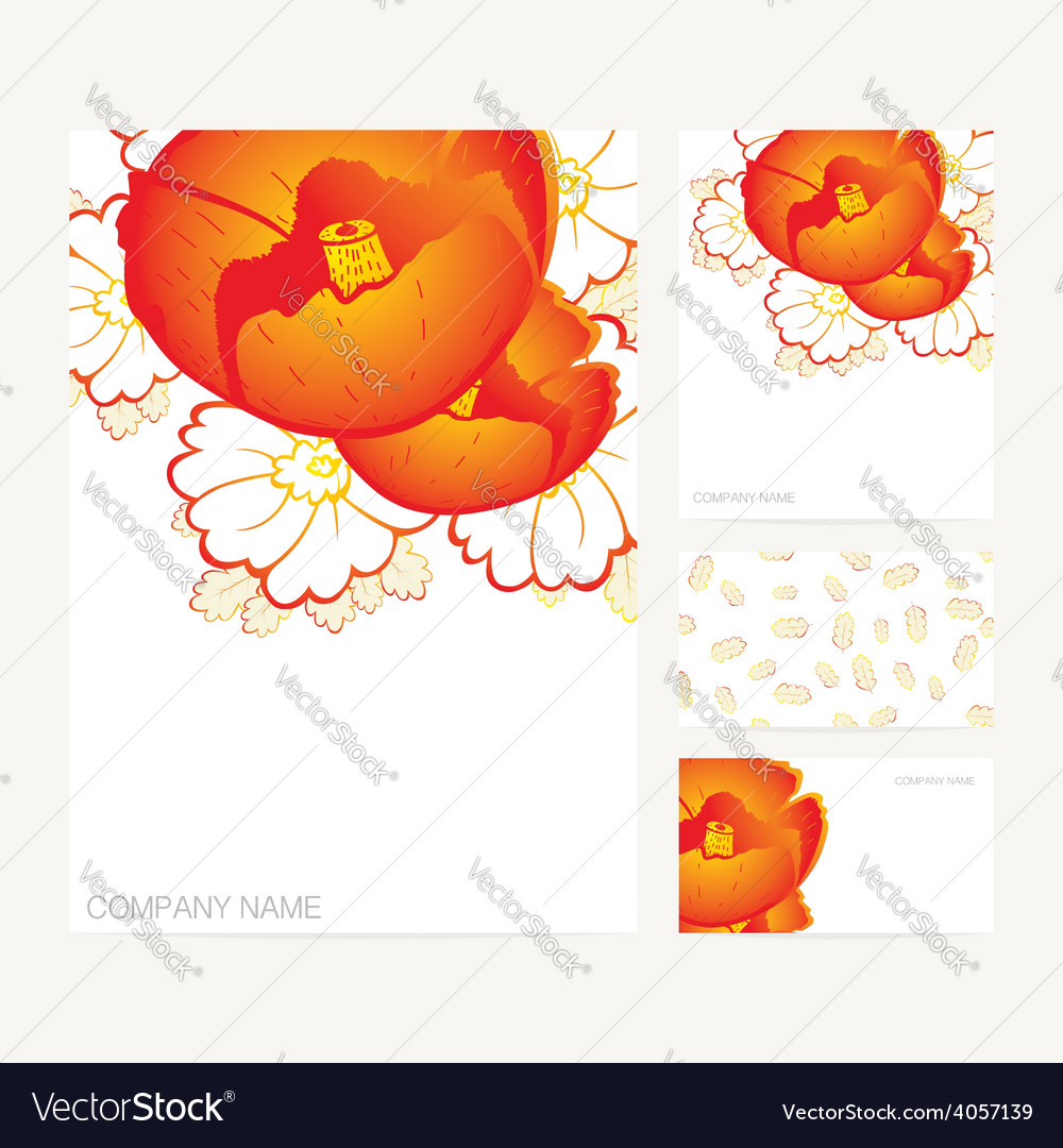 Set Of Business Card And Invitation Card Templates