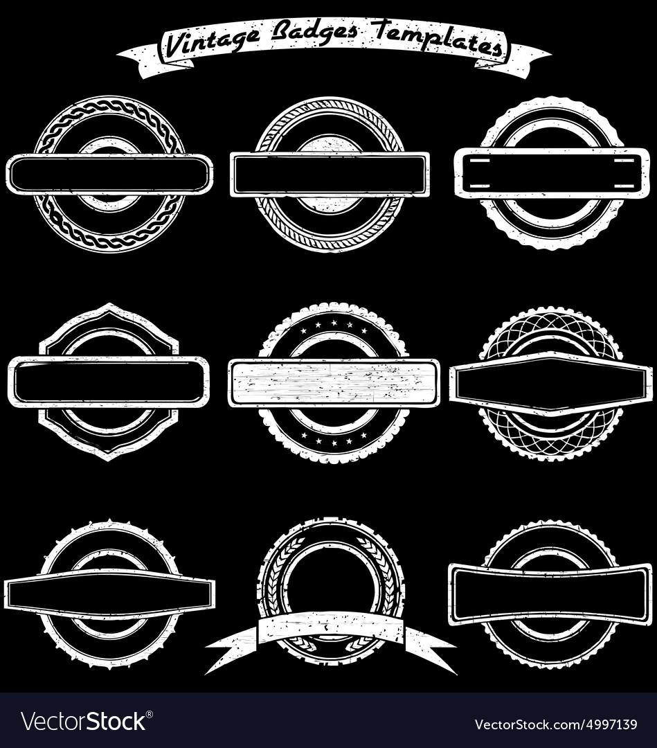 Vintage Badge Templates vector image