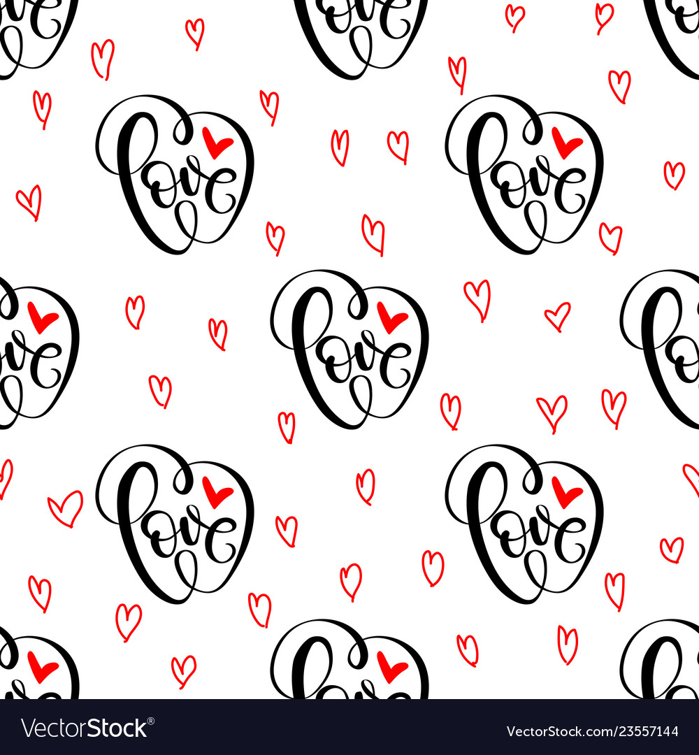 Abstract seamless love pattern