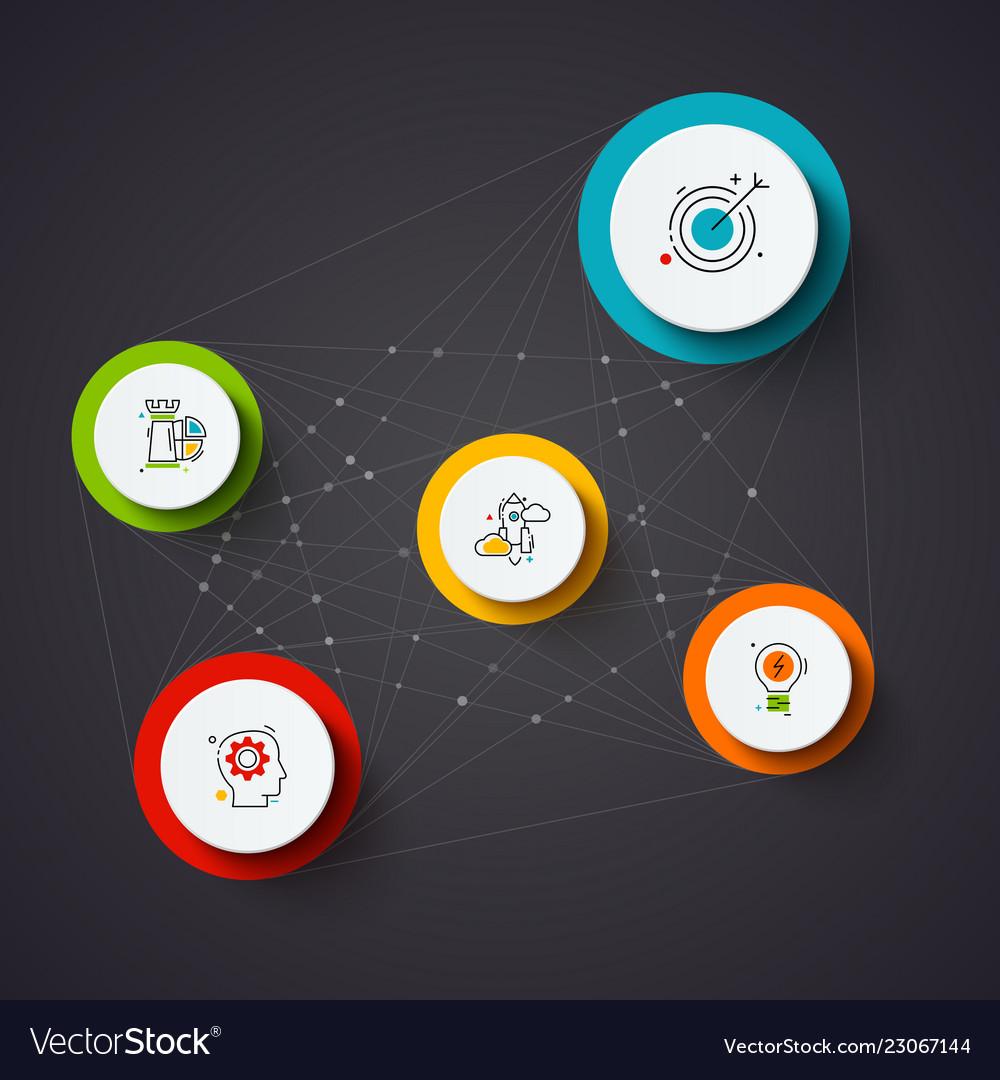 Dark infographic design template business
