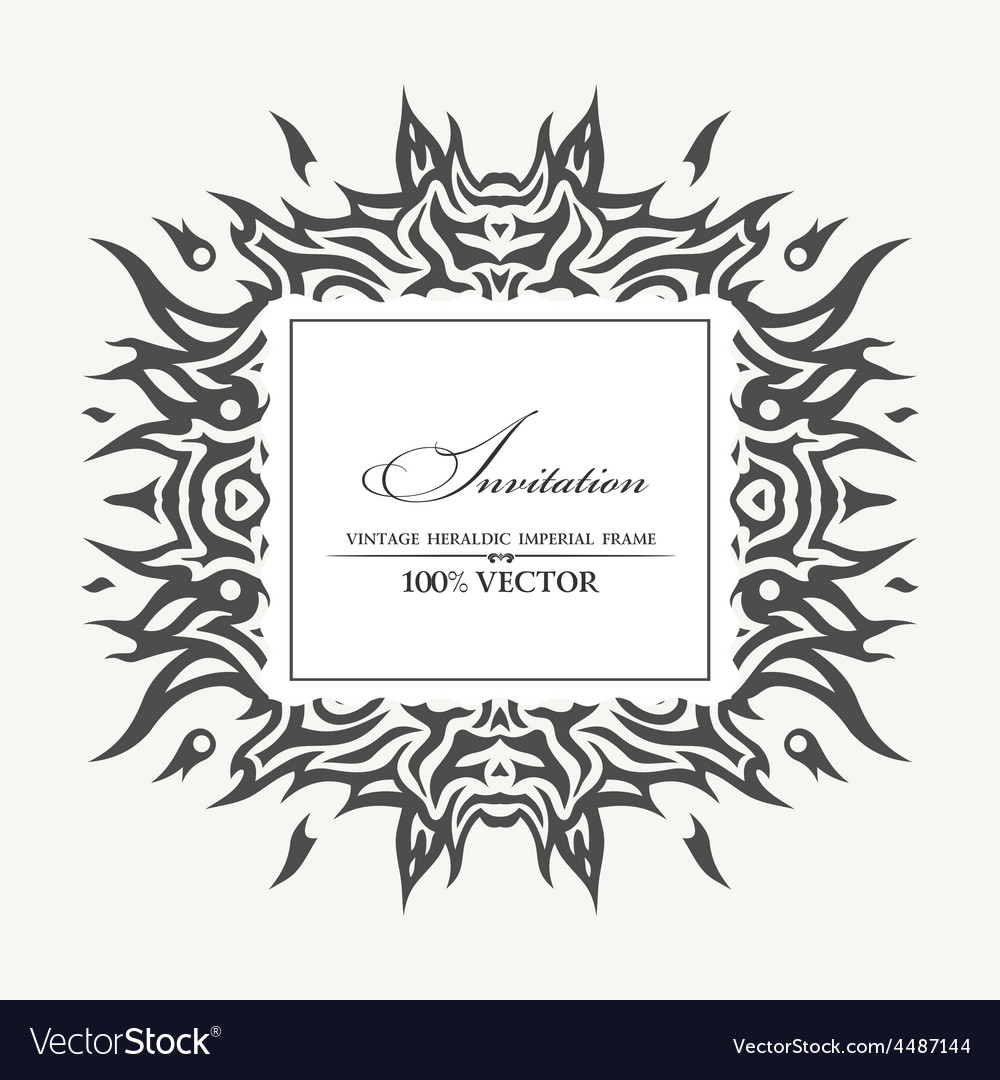 Elegant background with tattoo and place for text vector image
