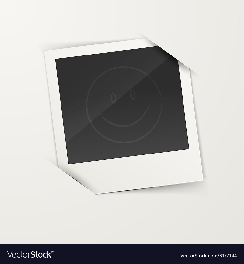 Empty photo frame vector image