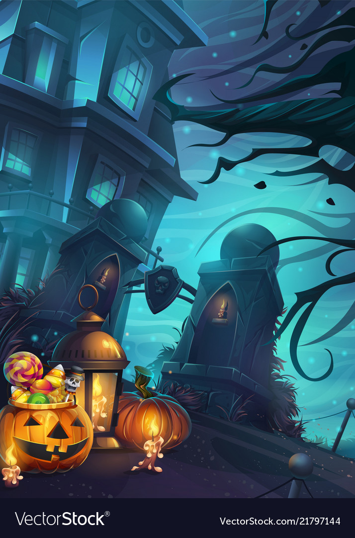 Halloween background - the