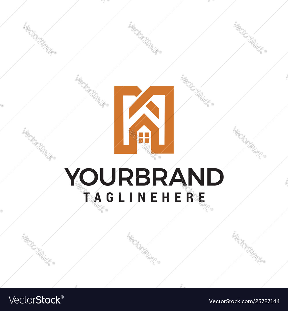 Letter m real estate sign logo icon design