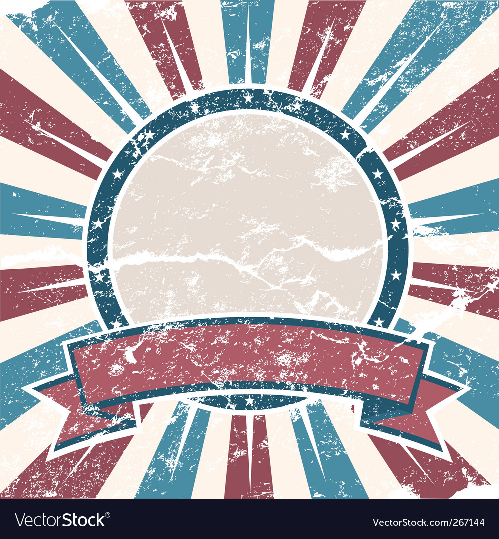Old USA colors ring grunge vector image