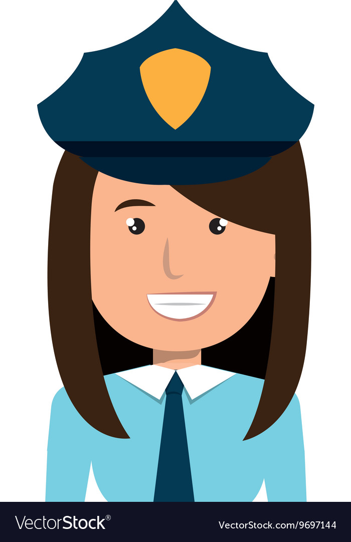 Police officer cartoon graphic design vector image