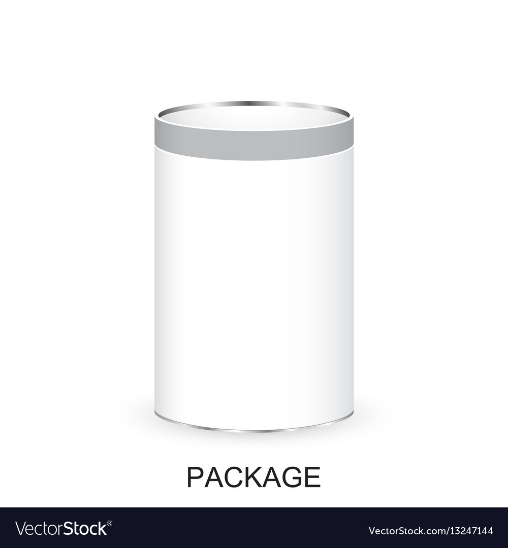 Realistic white package bank for coffee tea