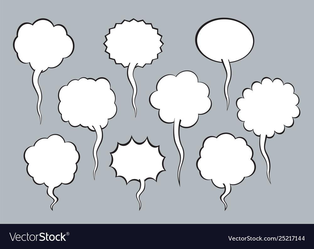 Set comic speech balloons