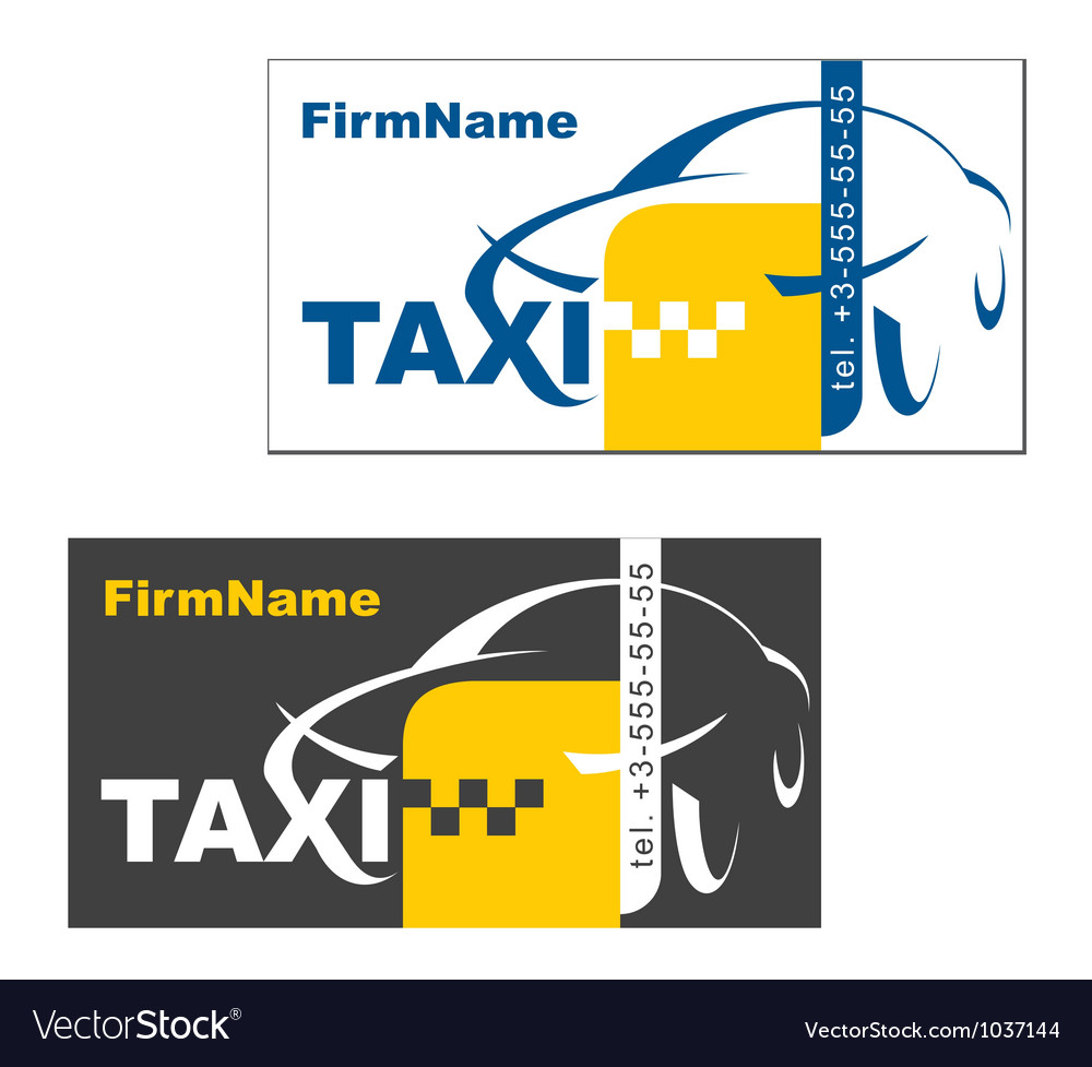 Taxi Firm Name Card vector image