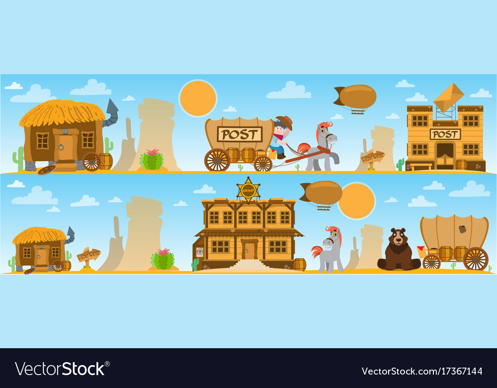 Wild west game background daily life cowboys