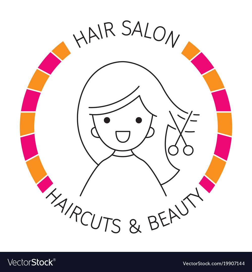 Woman On Banner Hair Salon Haircuts And Shaves Vector Image