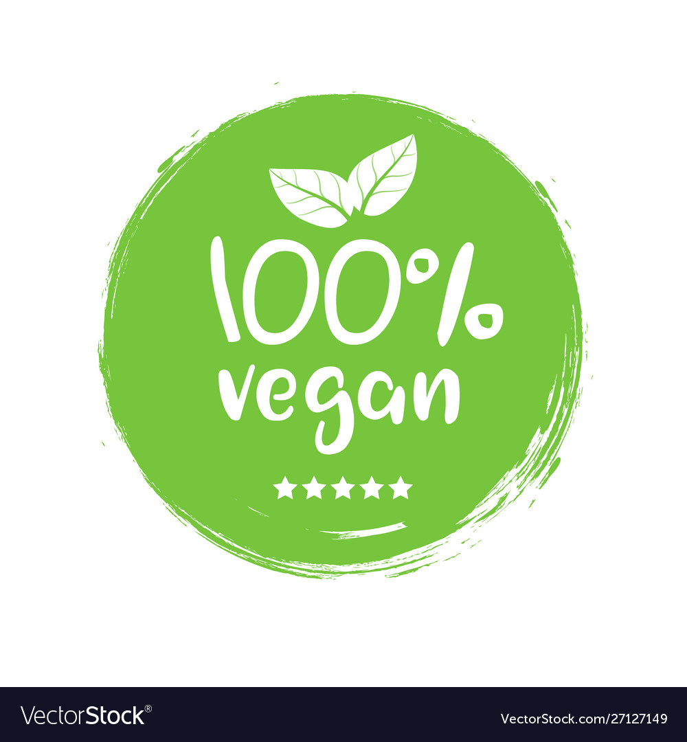 100 percent vegan logo icon vegetarian