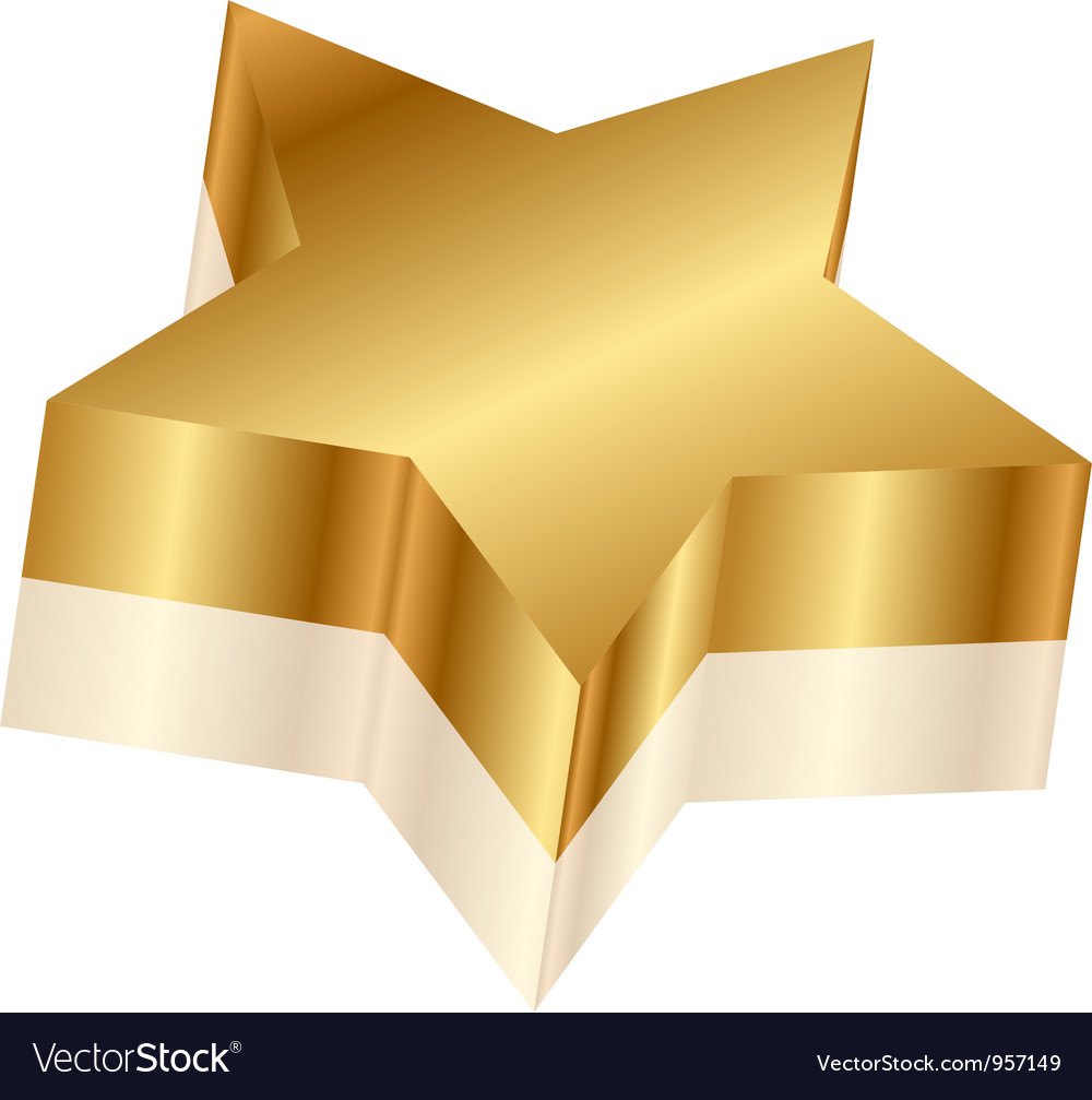 3d of gold star royalty free vector image vectorstock