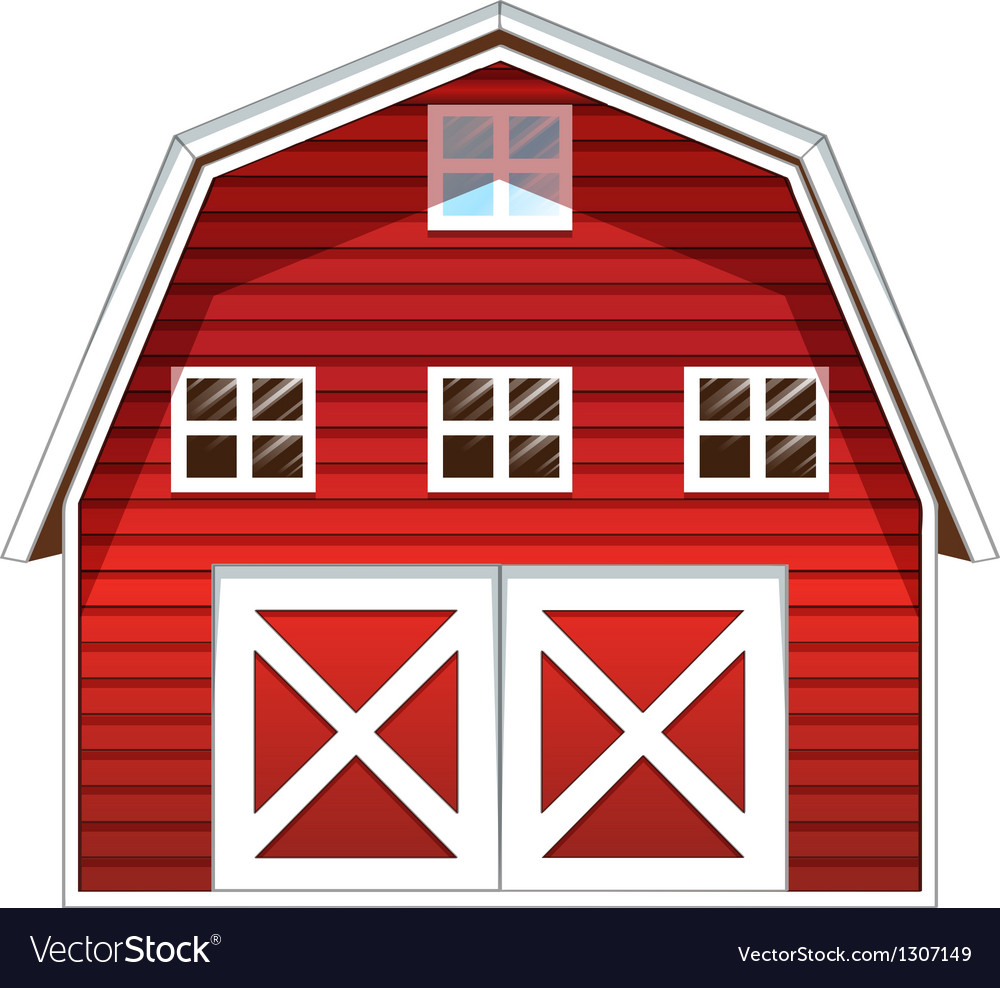 A red barn house vector art download sides vectors 1307149 for Red barn house