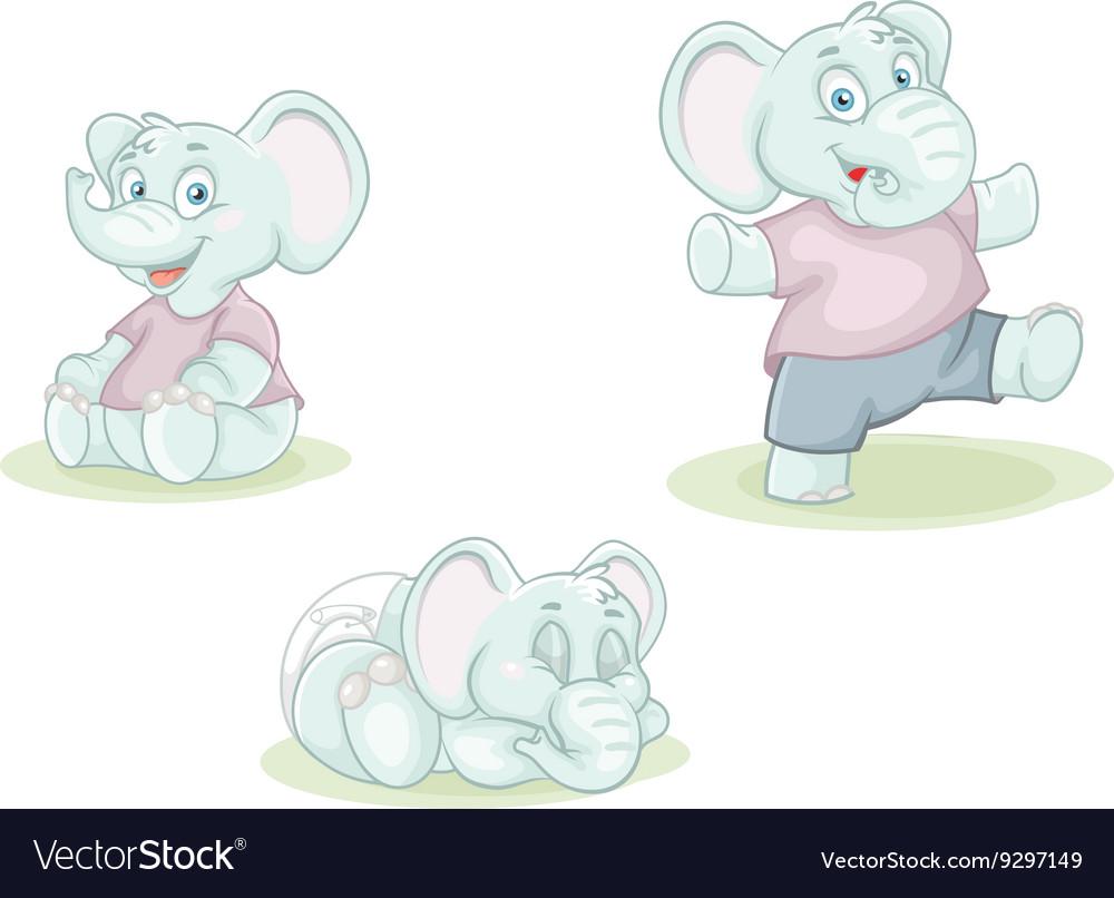Cartoon little elephant
