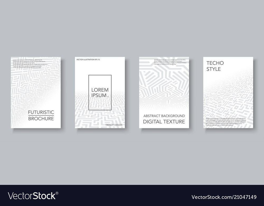 Collection of trendy geometric covers - digital