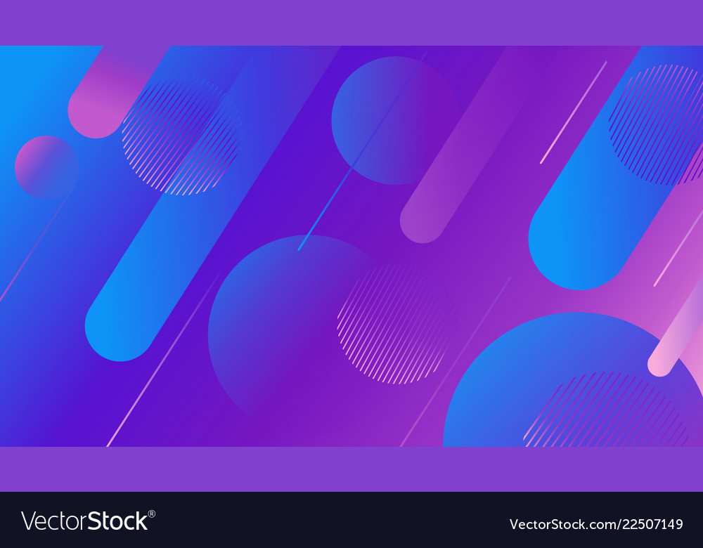 Colorful dynamic shapes composition on gradient