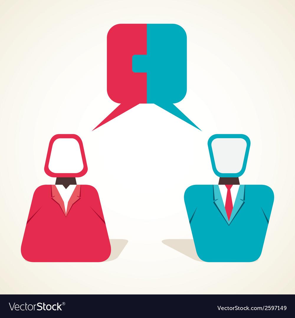 Couple communication concept