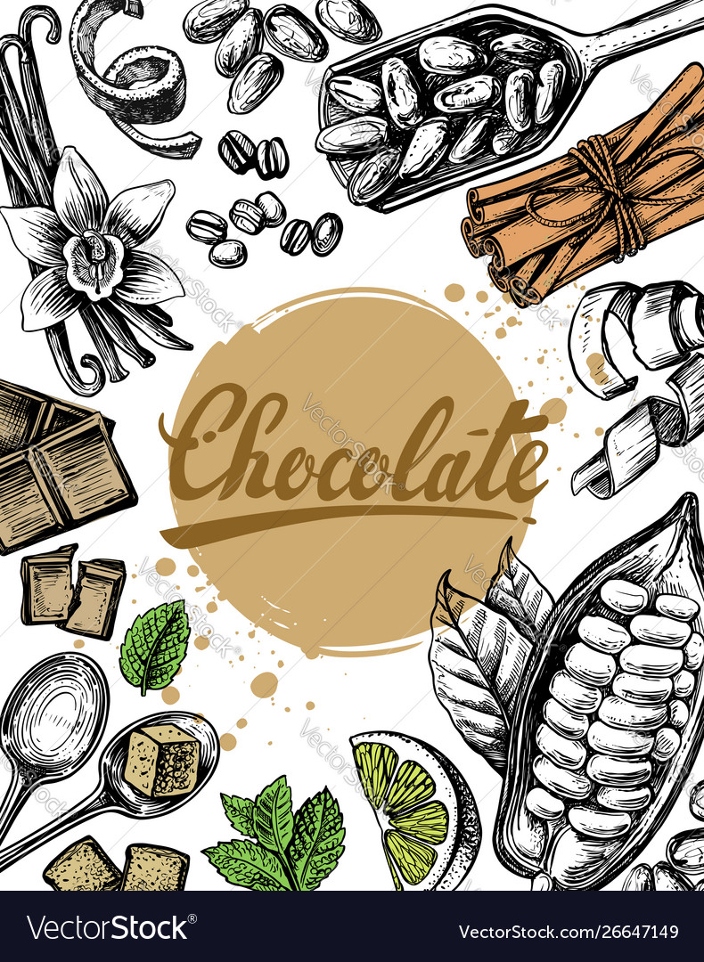 Hand drawn sketch chocolate