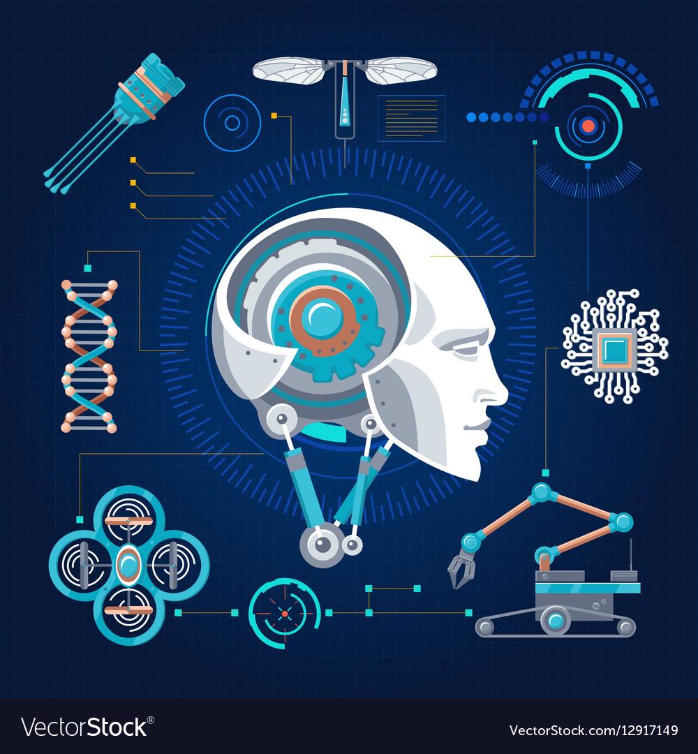 Hi-Tech Technology Concept