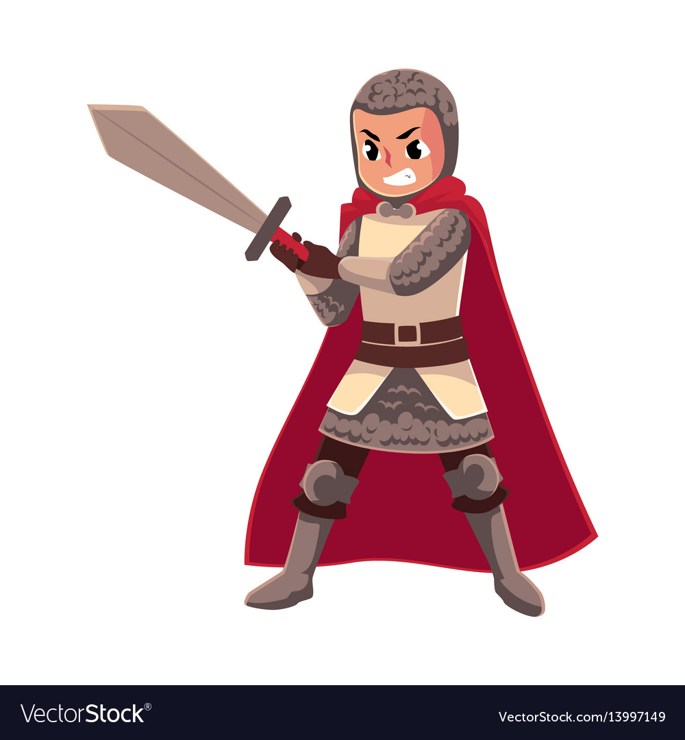 Medieval knight apprentice sword bearer squire