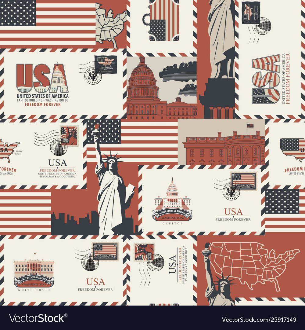 Seamless pattern on theme usa