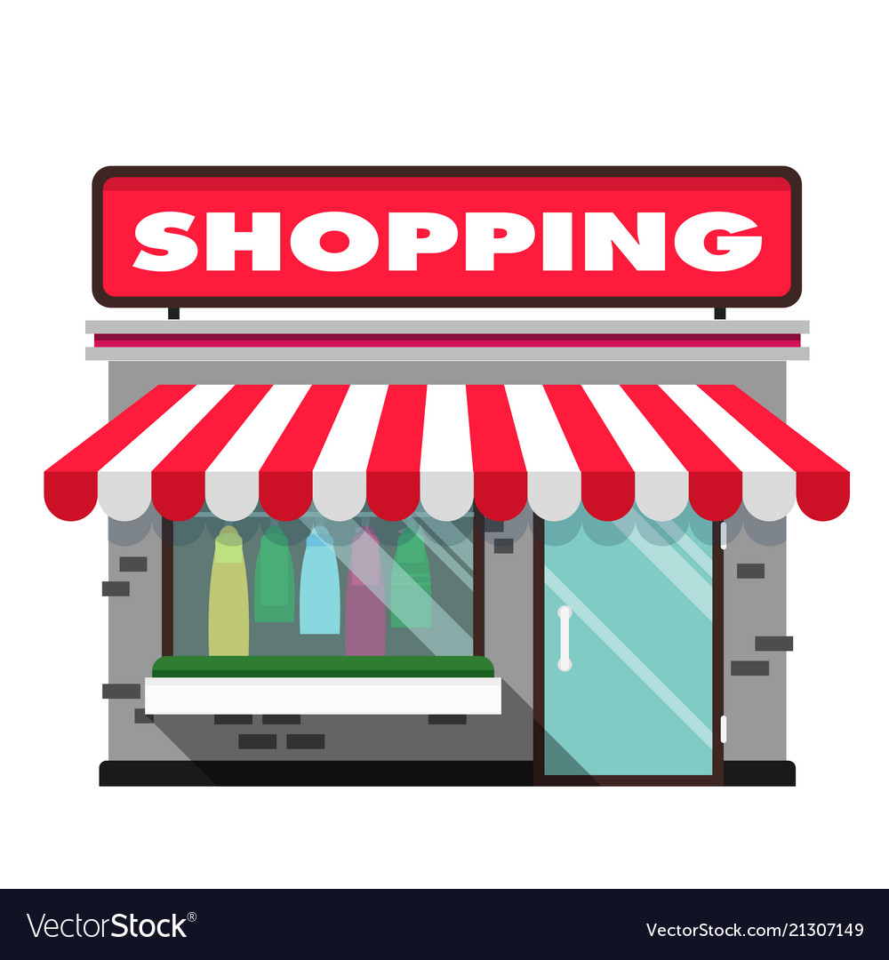 Shopping infographic icon store background