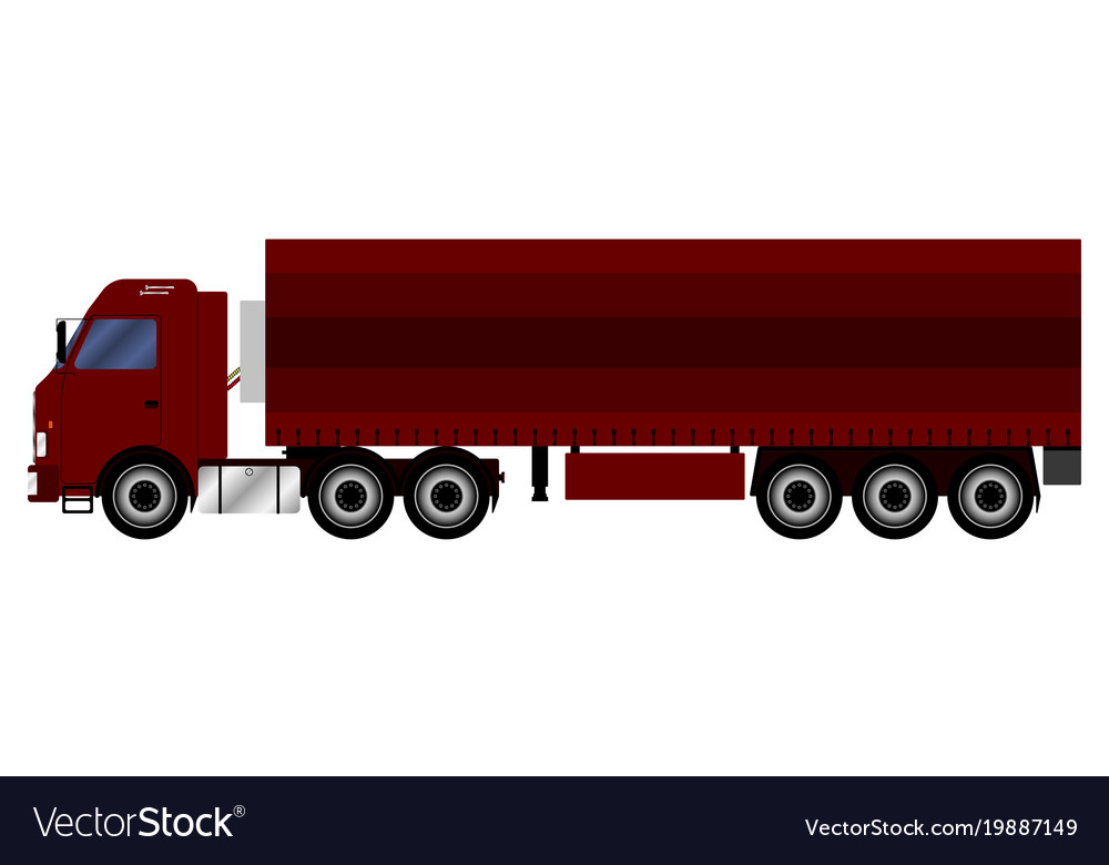 Truck with a trailer that transports cargo