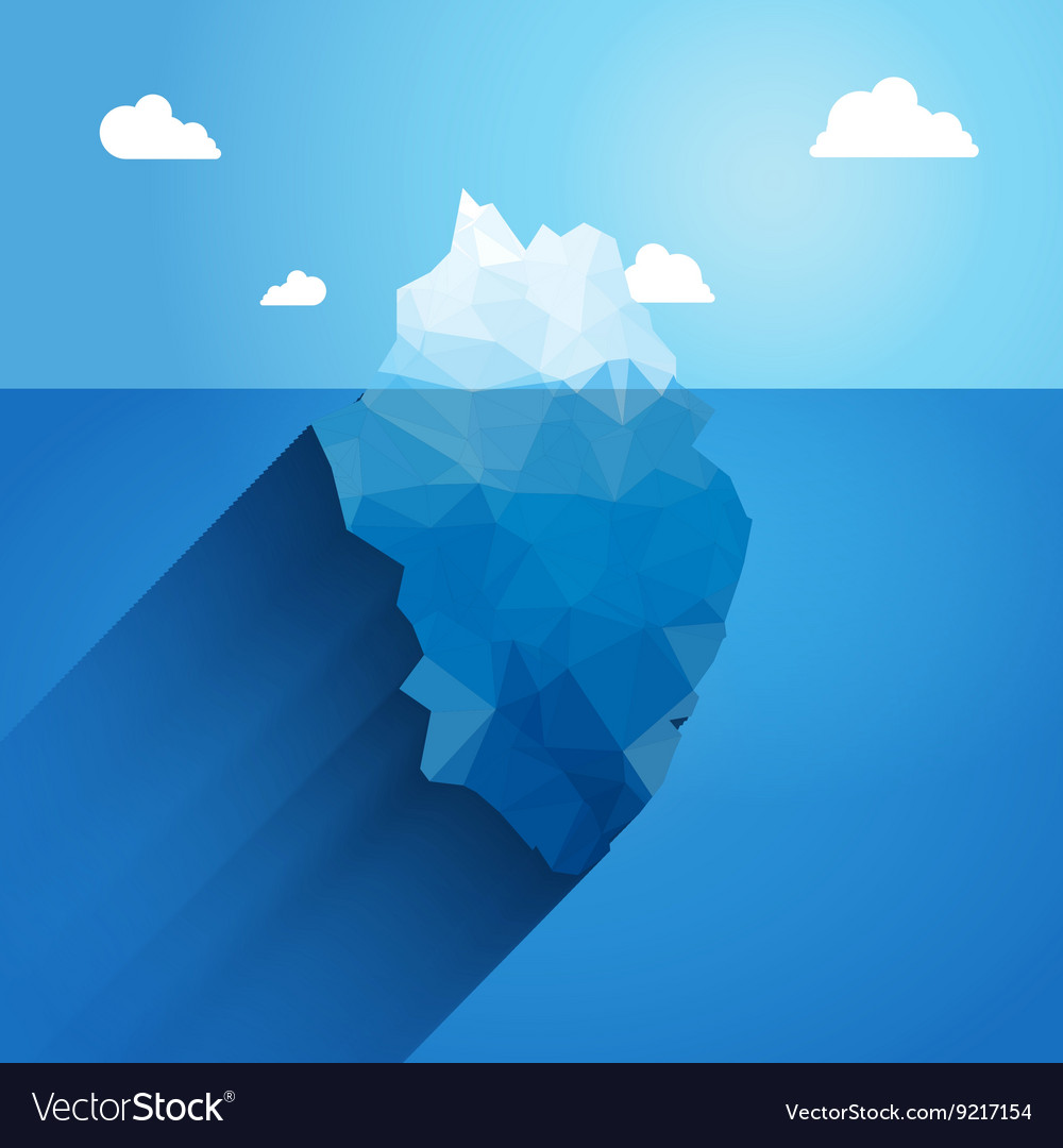 3d iceberg concept Success