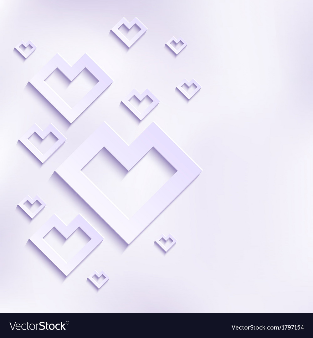 Abstract White Hearts vector image