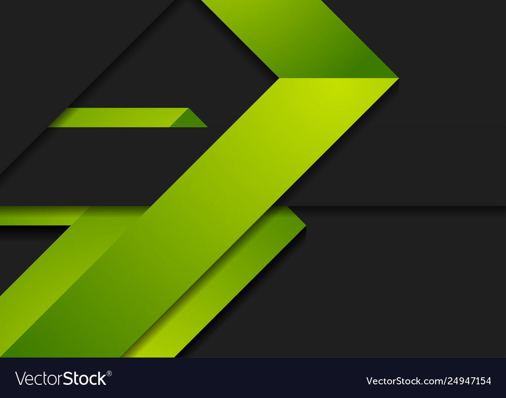 Green black paper corporate abstract background