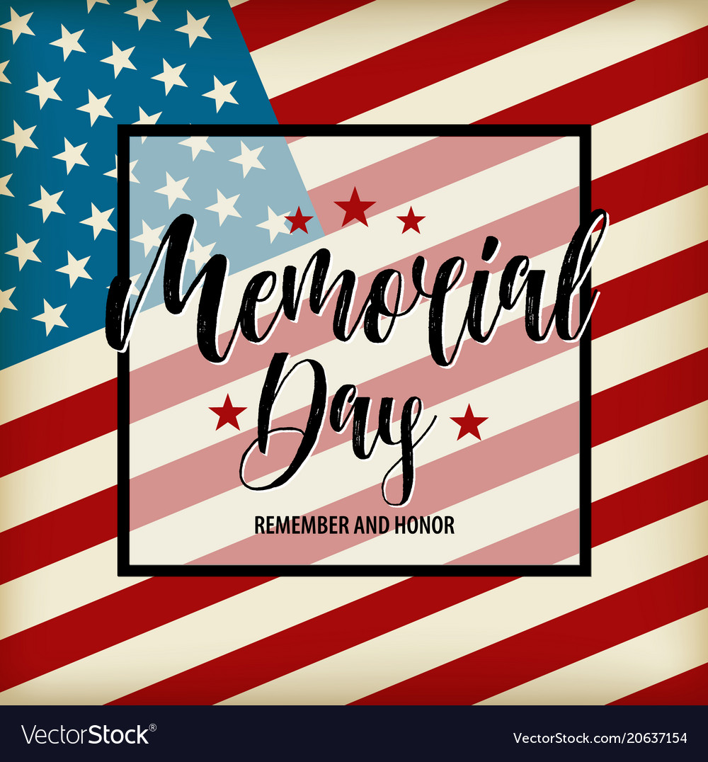 Happy memorial day card national american