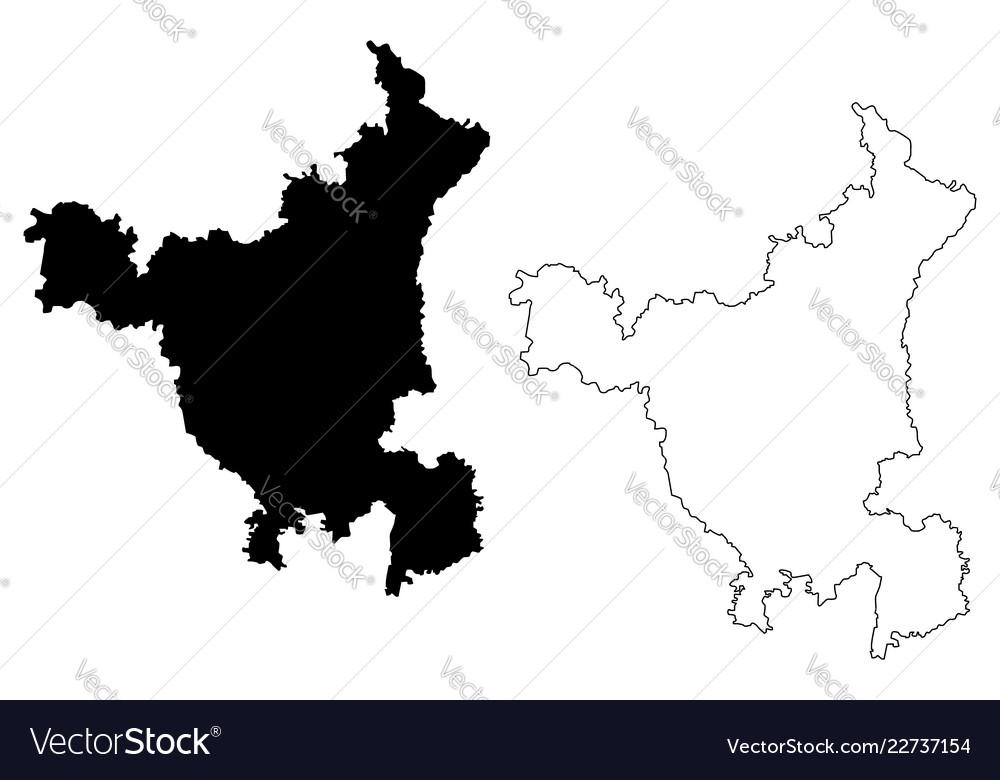 Haryana India Map.Haryana Map Royalty Free Vector Image Vectorstock