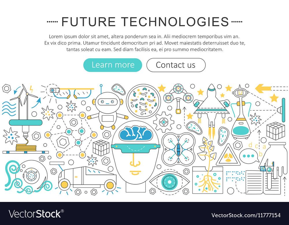 Modern line flat design Future technology