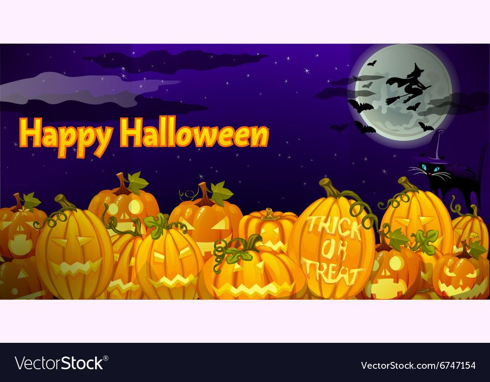 Pumpkin carved in dark night