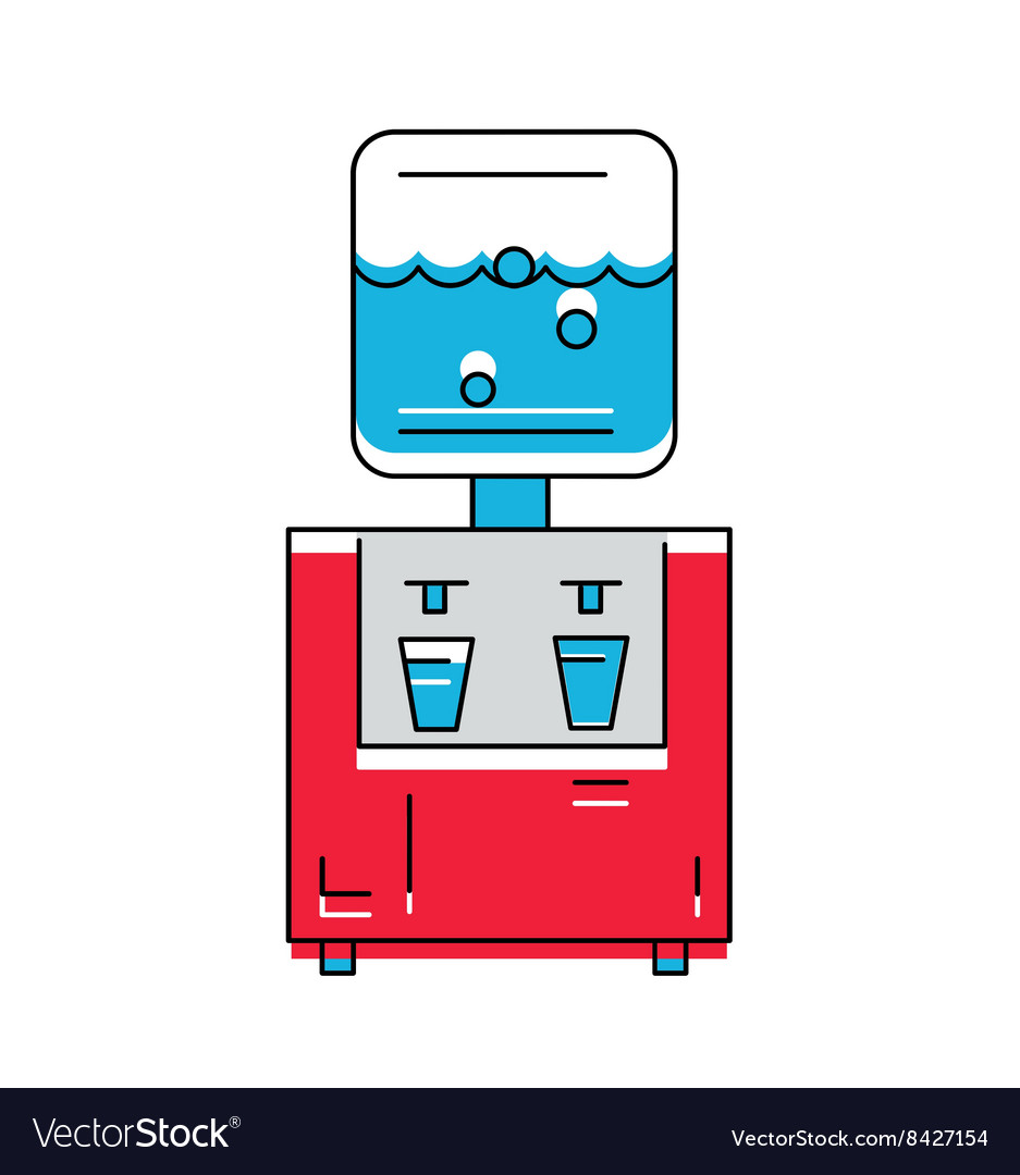 Water Cooler icon Line style