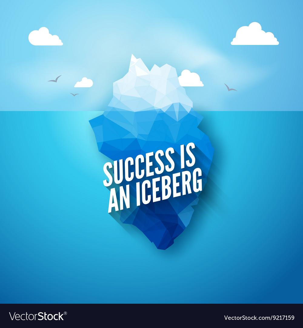3d iceberg concept Success