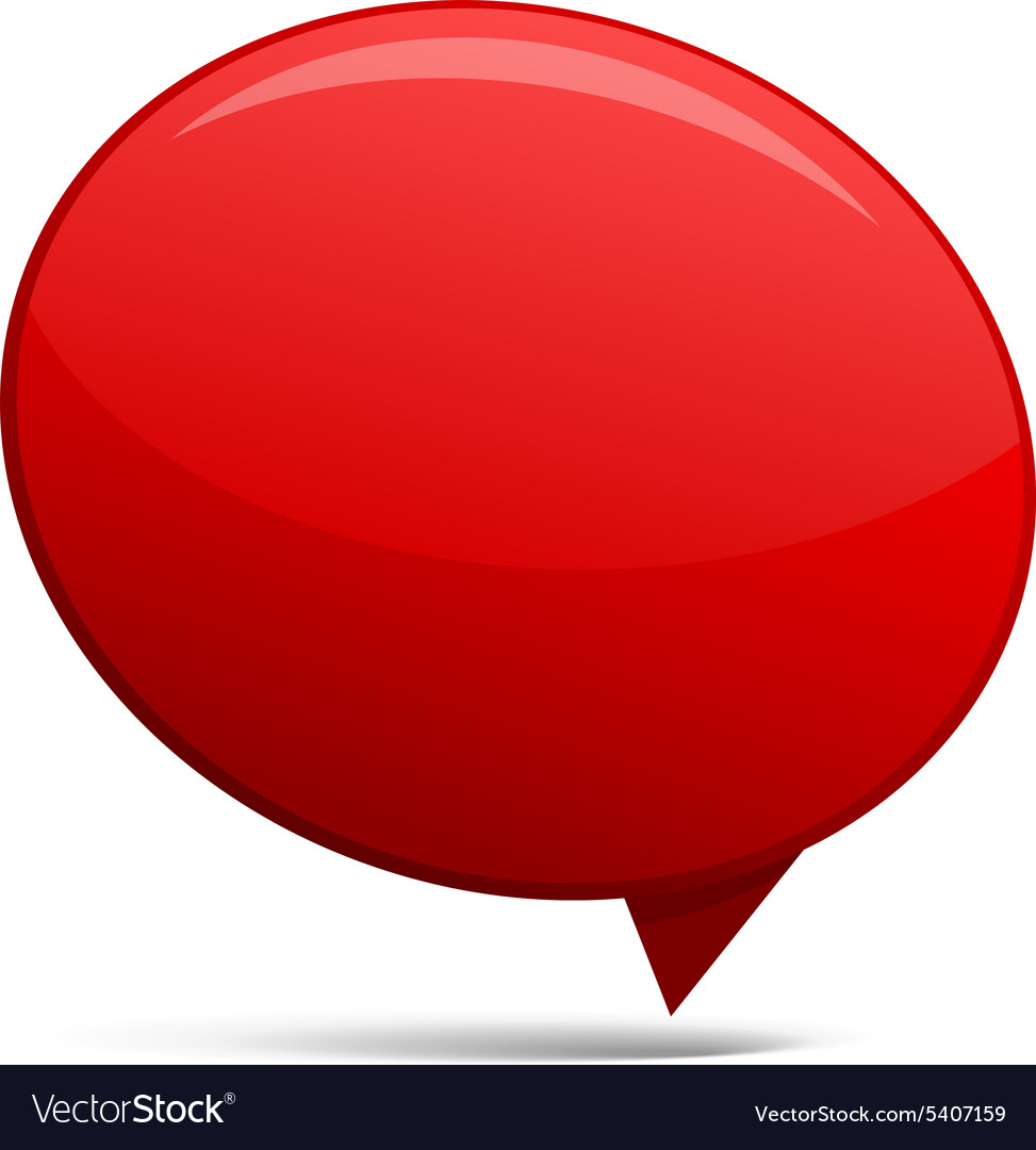 Abstract Red speech bubbles