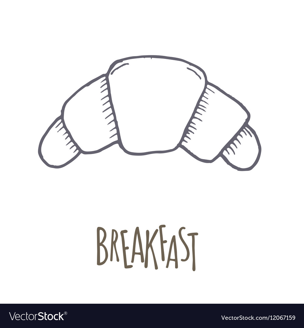 Breakfest hand drawn icon over white background