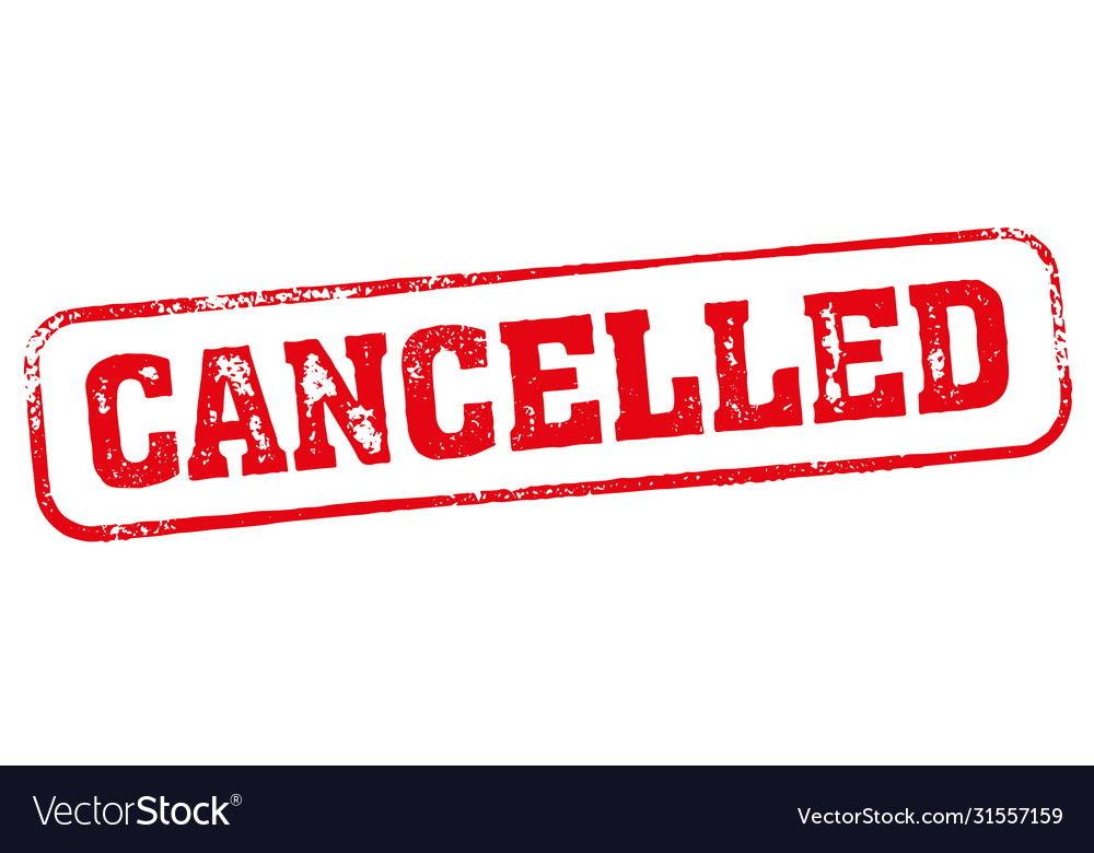Cancelled grunge rubber ink stamp icon shape