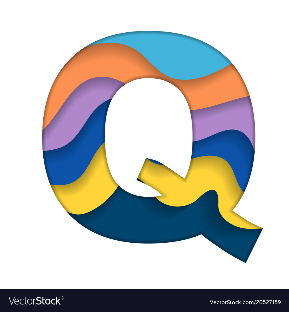 colorful letter q vector image