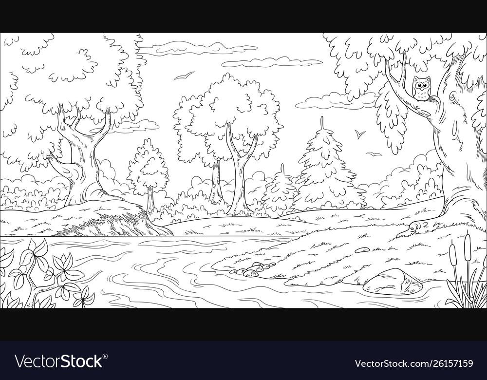 Landscape Coloring Book Robertdee Org