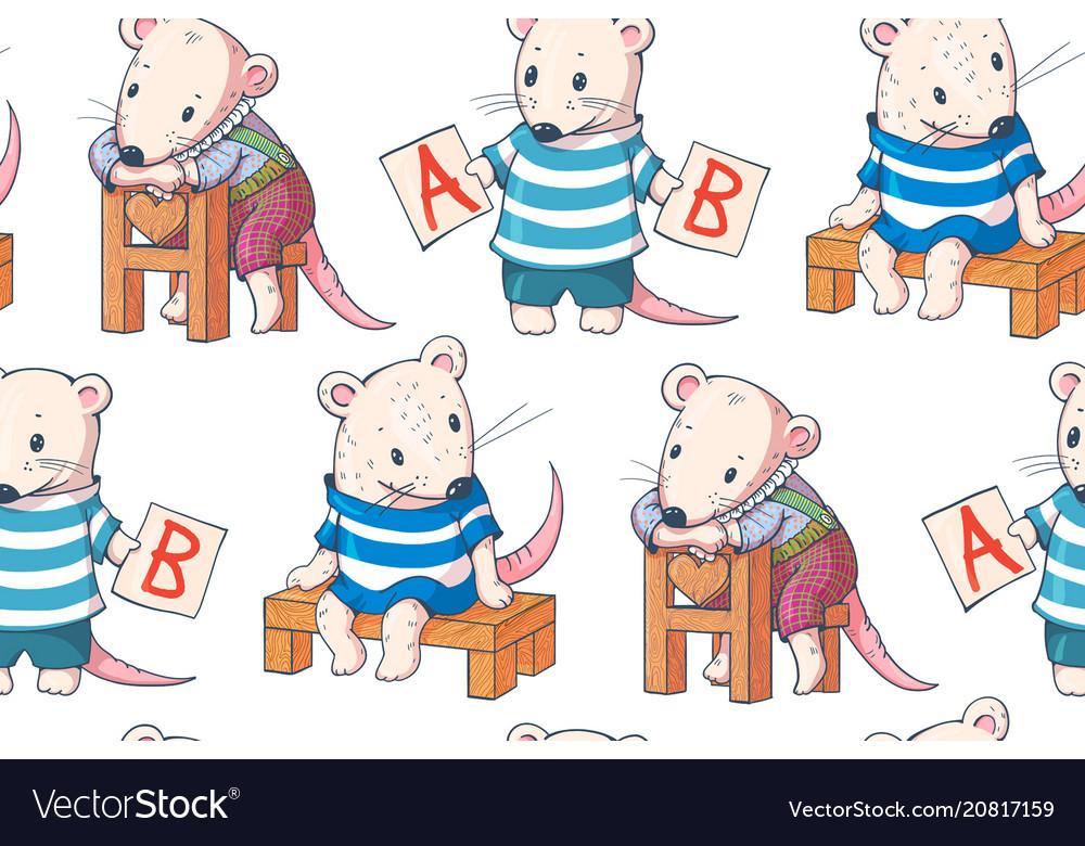 Funny cartoon mice