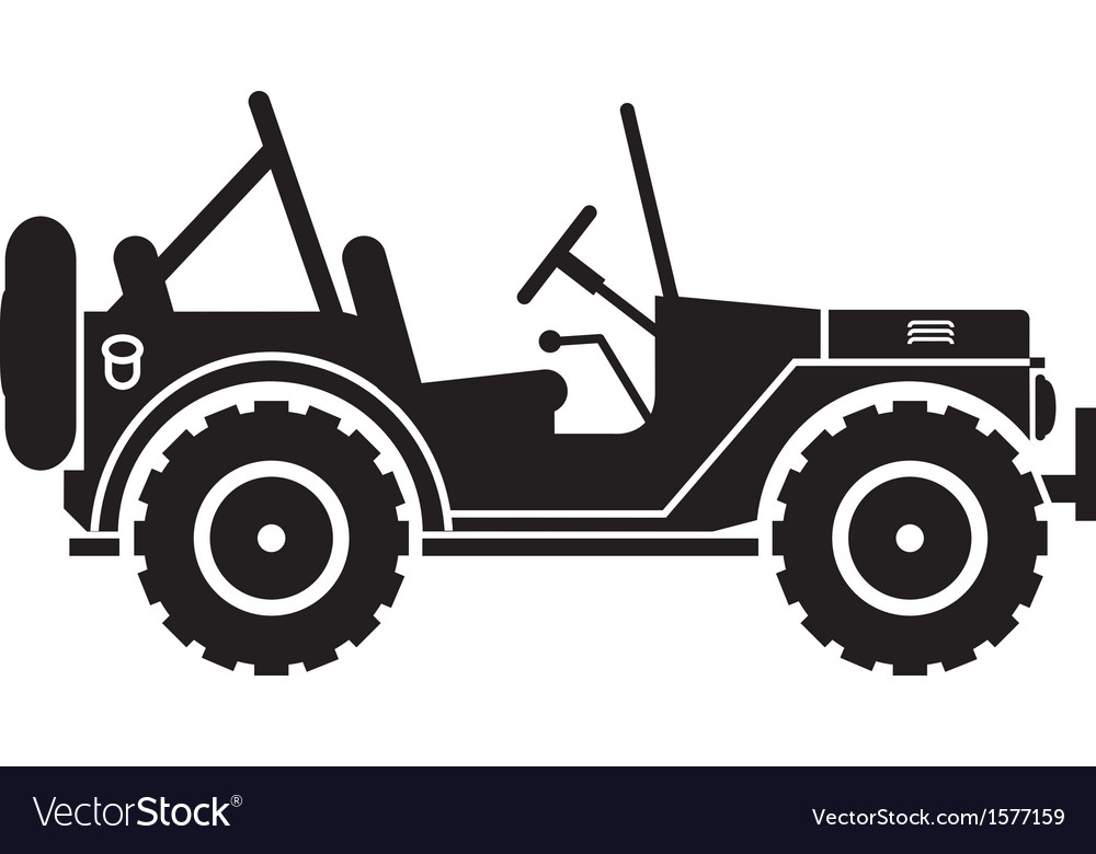 Jeep silhouette vector image
