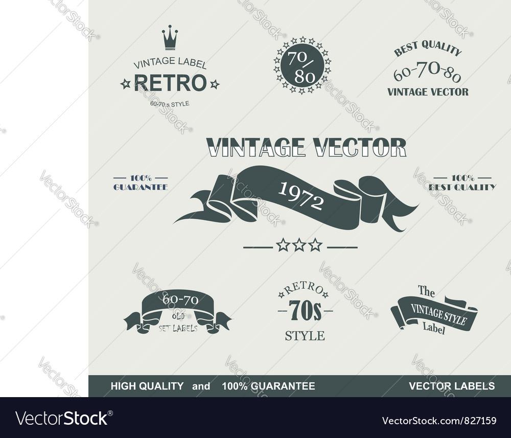 Labels retro vector image