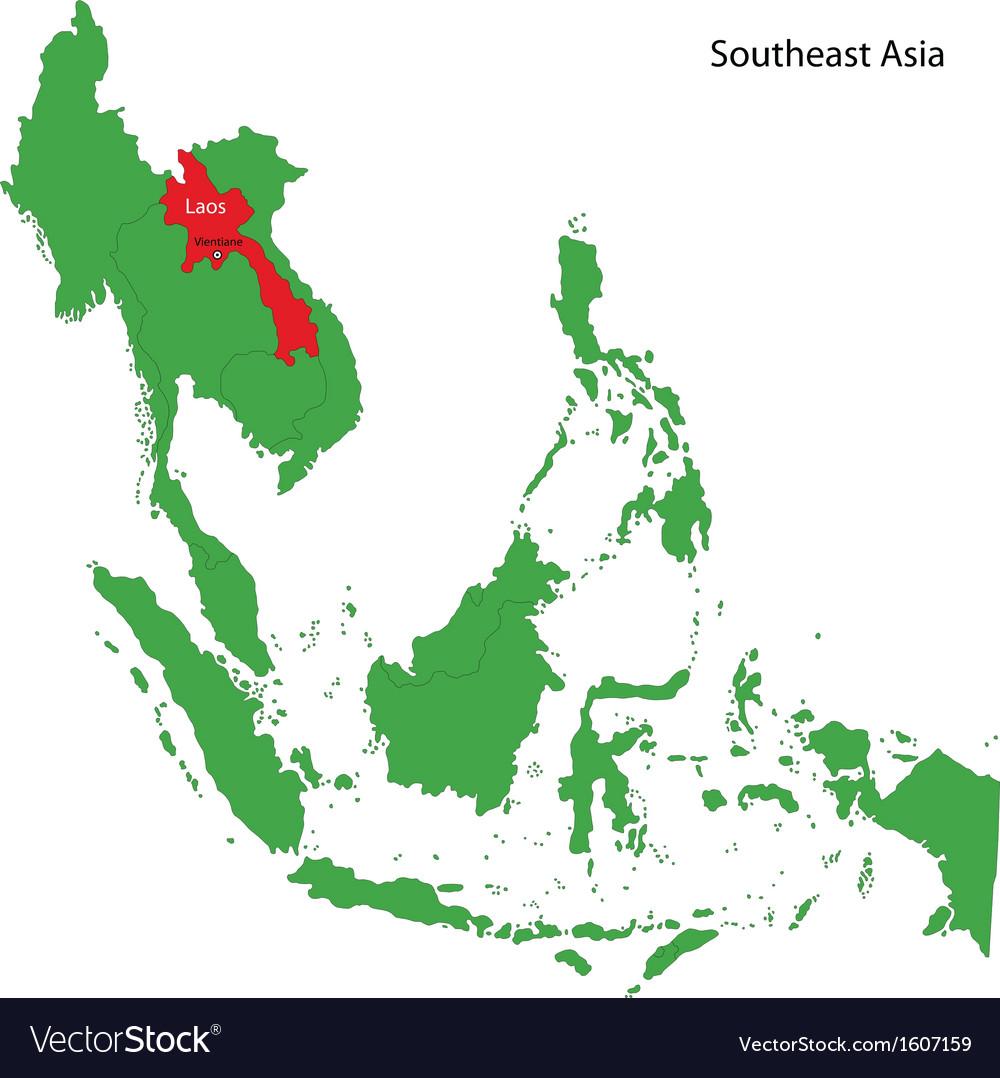 Laos On A World Map.Laos Map Royalty Free Vector Image Vectorstock