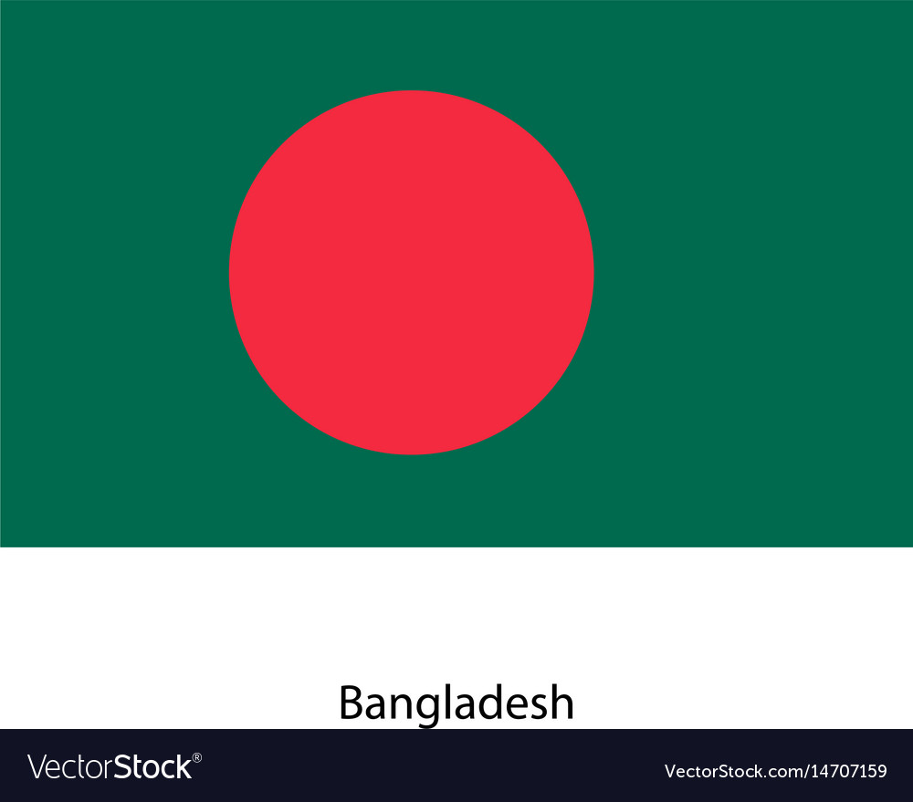 Original and simple bangladesh flag