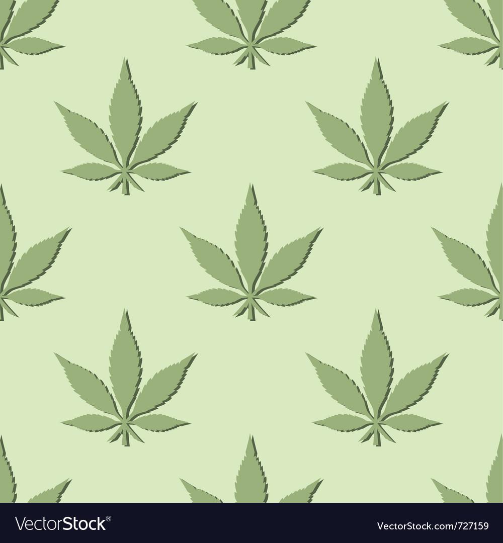 Seamless marijuana leaf pattern