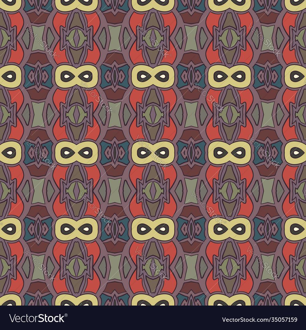 Vintage ethnic seamless flower pattern