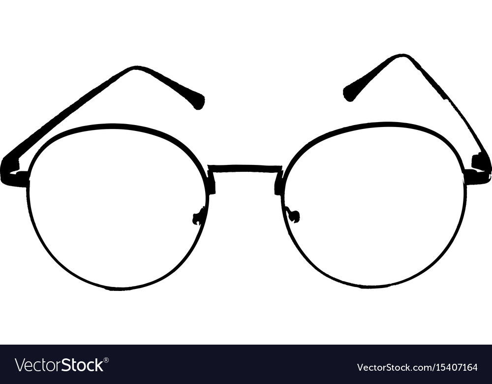 Black glasses on isolated